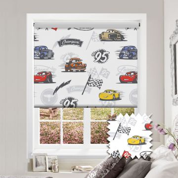 Cars Roller Blind Patterned Disney Pixar Blackout Fabric